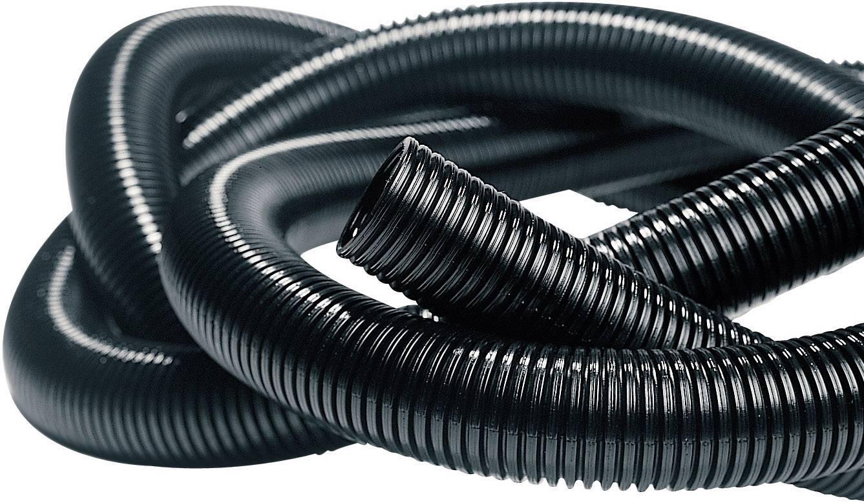 Elektroinstalačná rúrka ohybná Isolvin® IWS HellermannTyton IWS-10-N6-BK-L1 169-22100, 50 m