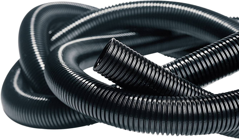 Elektroinstalačná rúrka ohybná Isolvin® IWS HellermannTyton IWS-13-N6-BK-L1 169-22130, 50 m