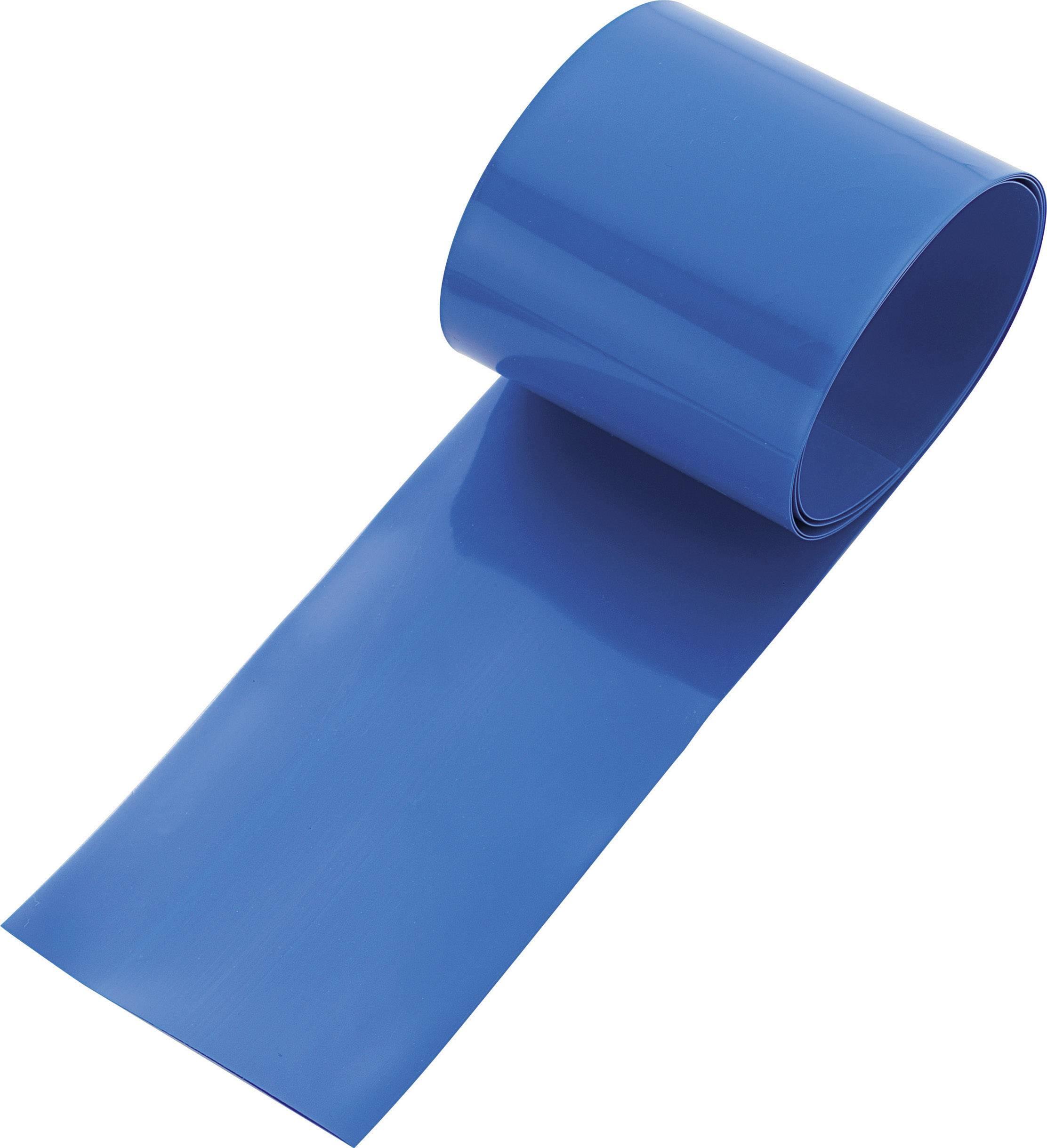 Zmršťovacia bužírka na akumulátory, bez lepidla TRU COMPONENTS 93014c88b, 38 mm, modrá, 1 ks