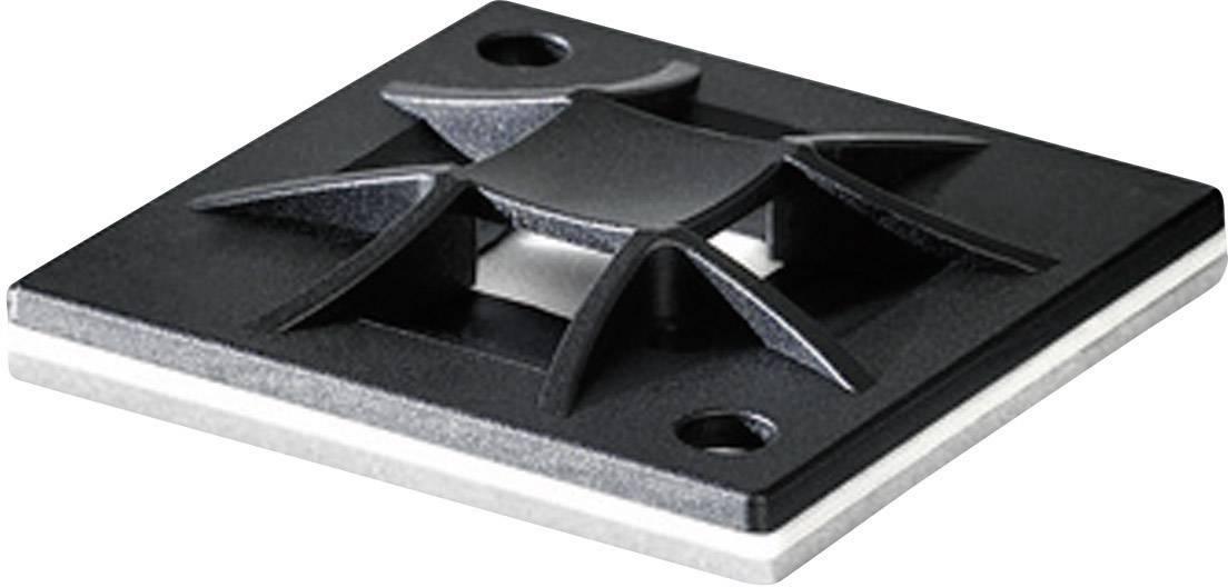 Úchytka HellermannTyton QM30-PA66-BK-C1 151-10912, šroubovací, černá, 1 ks