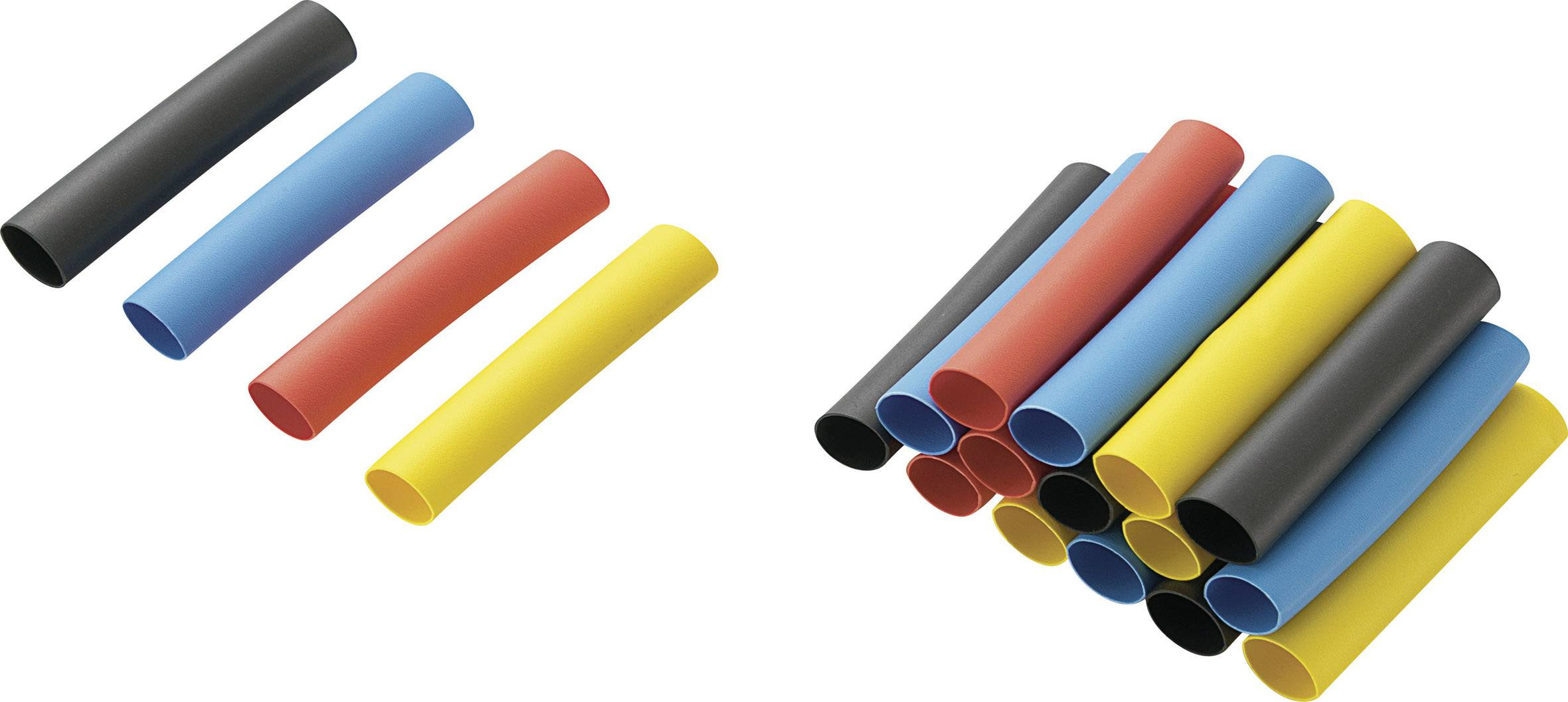 Náhradní kusy pro sadu smršťovacích bužírek, 6,4 x 40 mm, 20 ks