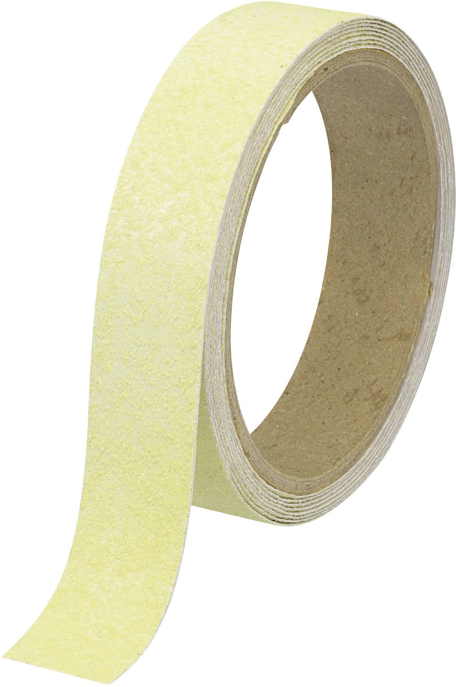 Protiskluzová fosforeskující páska Conrad ANST255-LG, 5 m x 25 mm, neonově zelená