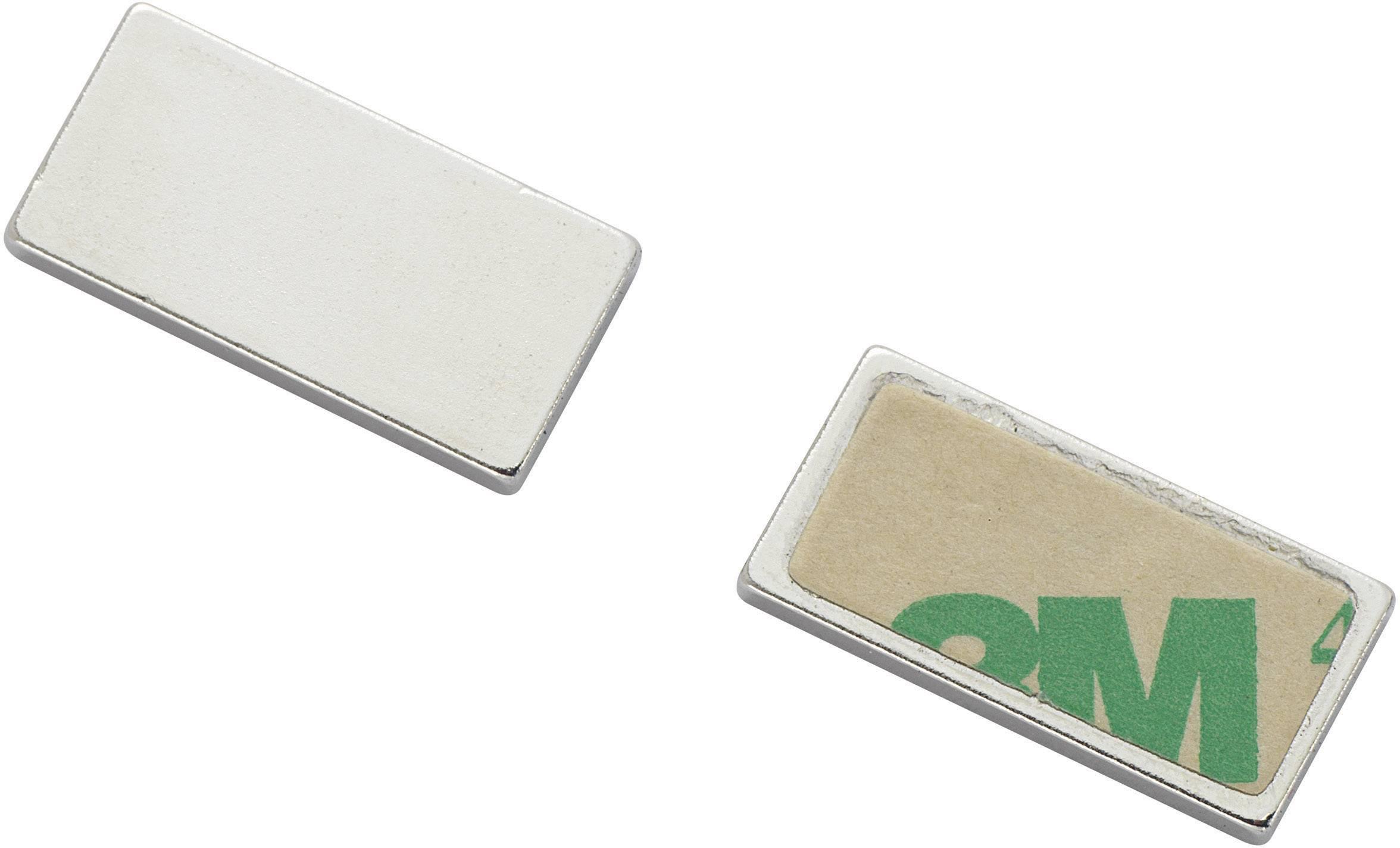 Samolepiace magnet Conrad Components N35-451502 542519, (d x š) 20 mm x 10 mm, strieborná, 1 ks