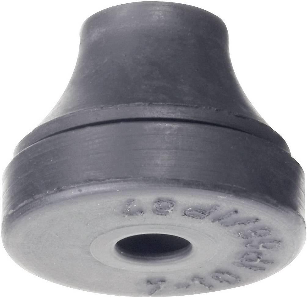 Káblová priechodka PB Fastener 1101-CR-SW, Ø 7 mm, IP66/67 (skúšané podľa DIN VDE 0470 časť 1/11.92), chloroprénový kaučuk, čierna, 1 ks