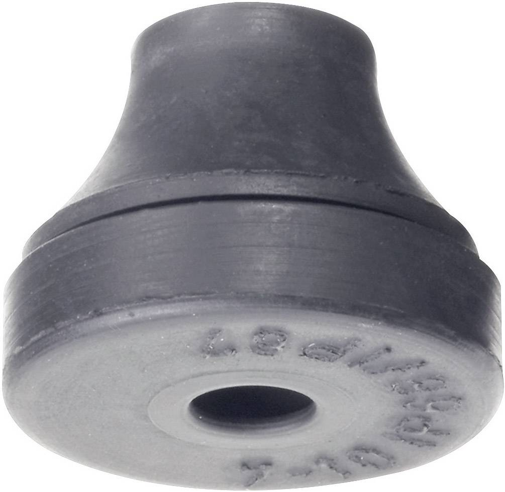Káblová priechodka PB Fastener 1200-CR-SW, Ø 5 mm, IP66/67 (skúšané podľa DIN VDE 0470 časť 1/11.92), chloroprénový kaučuk, čierna, 1 ks