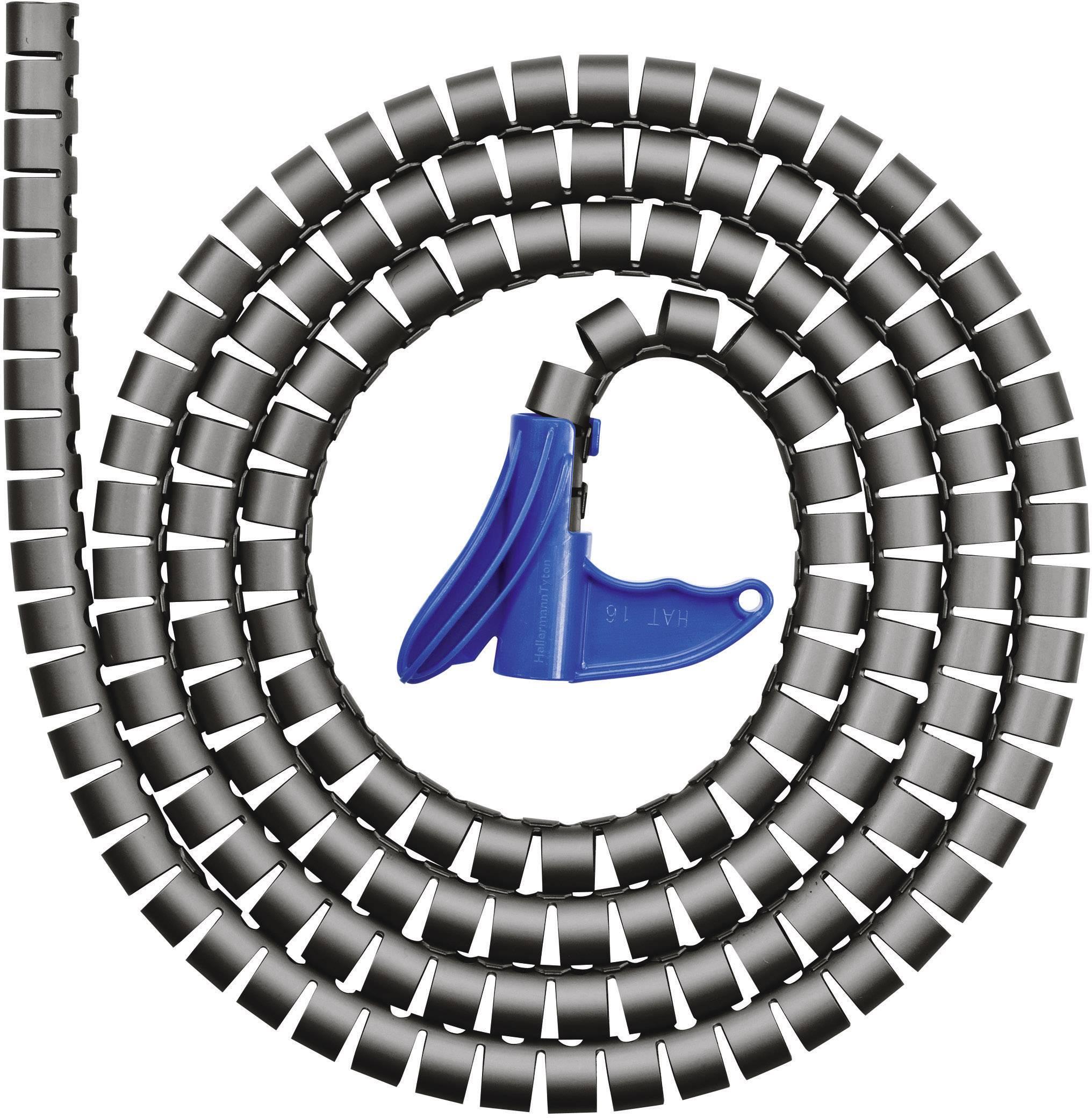 Organizér kabelů HellermannTyton HWPP-8MM-PP-BK-Q1 (161-64101), 0.75 mm, 9 mm, černá