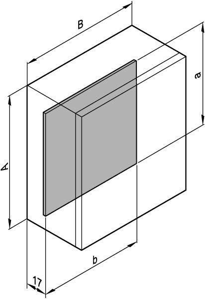 Montážna doska oceľový plech pozinkovaný Schroff CONCEPTLINE 12406-812
