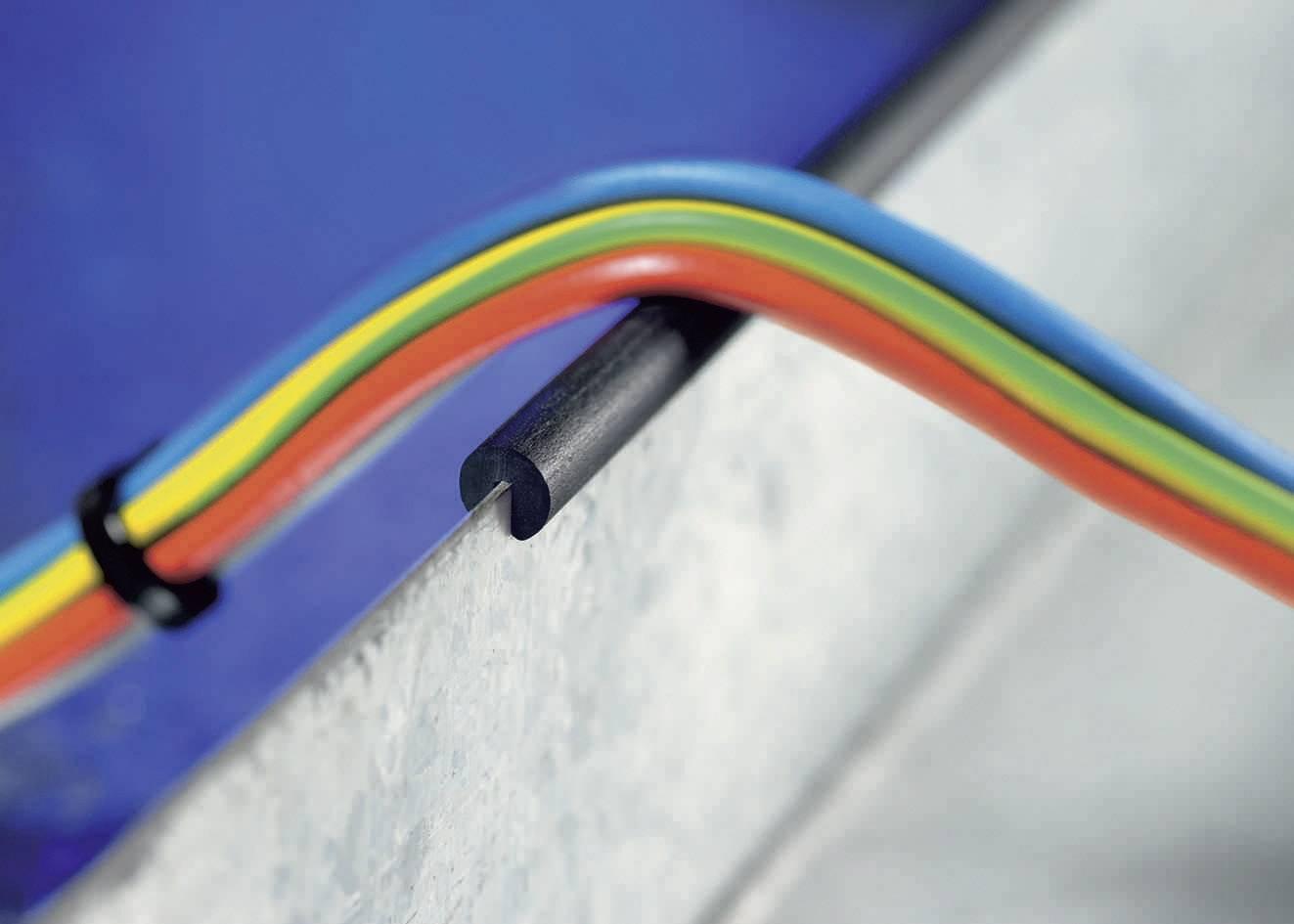 HellermannTyton SM1-PVC-BK-75M, PVC, čierna, metrový tovar