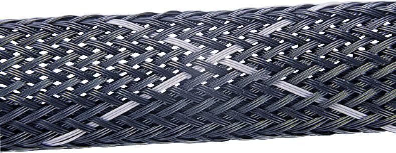 Ochranný oplet HellermannTyton HEGPV0X03-PBT-BK-C4, 2 do 6 mm, -50 do +150 °C, metrový tovar, čierna, sivá