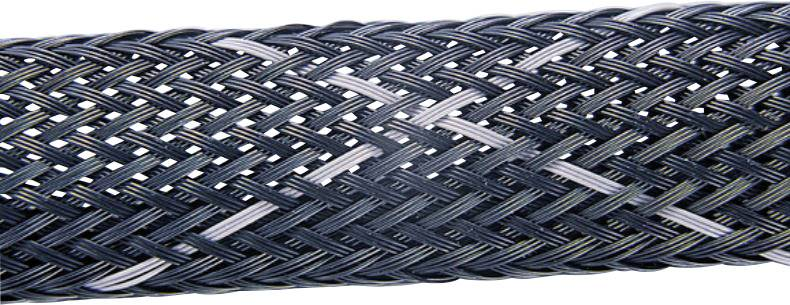 Ochranný oplet HellermannTyton HEGPV0X06-PBT-BK-T4, 3 do 9 mm, -50 do +150 °C, metrový tovar, čierna, sivá