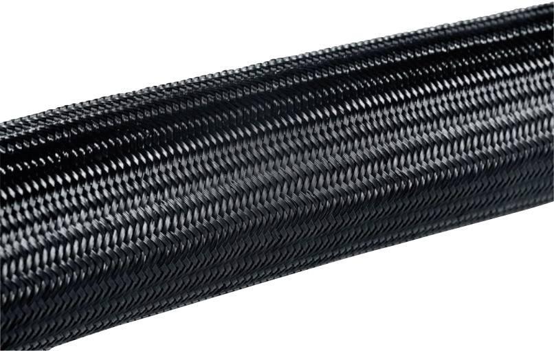 Ochranný oplet HellermannTyton HEGPA6608, 5 do 10 mm, -60 do +150 °C, metrový tovar, čierna