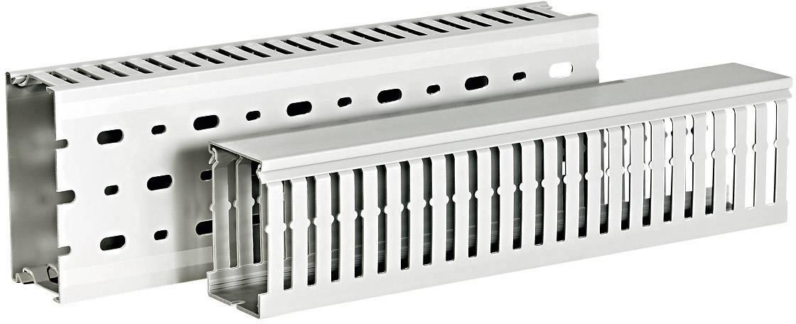 Elektroinstalační lišta HellermannTyton HTWD-DIN-100x50 (185-40238), šedá (RAL 7030)