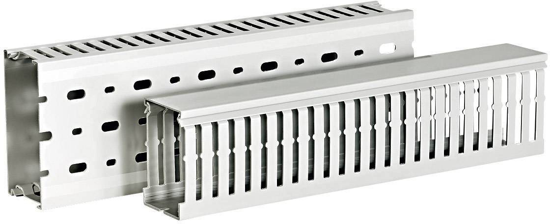 Elektroinstalační lišta HellermannTyton HTWD-DIN-37,5X50 (185-40188), šedá (RAL 7030)