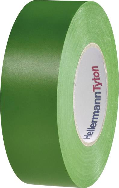 Izolační páska HellermannTyton HelaTape Flex 1000+ 710-10606, (d x š) 20 m x 19 mm, zelená, 1 role
