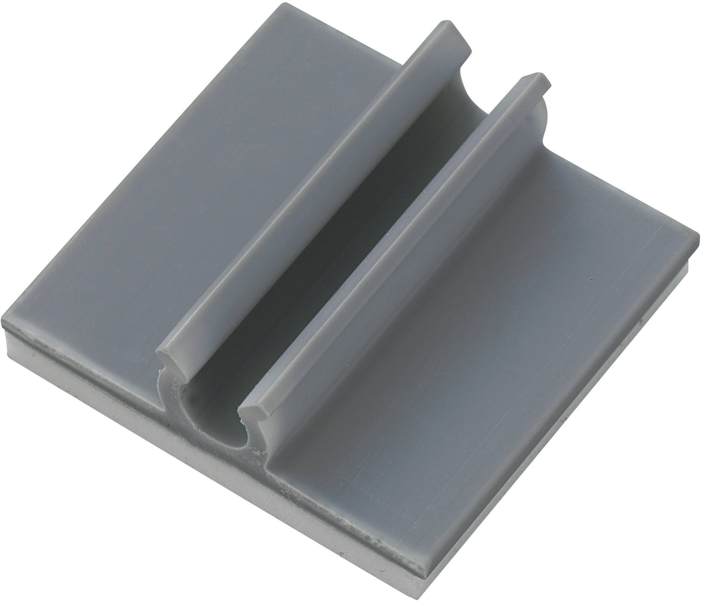 Úchytka Conrad Components 543342, samolepiaci, 6.40 mm (max), sivá, 1 ks