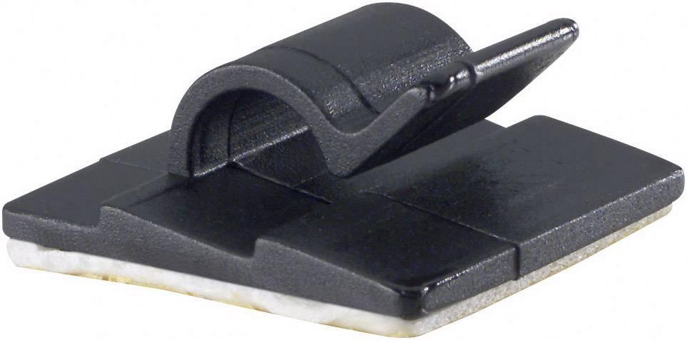 Spona na uchytenie káblu/ov PB Fastener 5431-SW 5431-SW, 5 mm (max), čierna, 1 ks