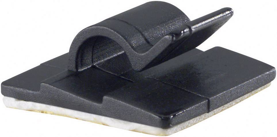 Spona na uchytenie káblu/ov PB Fastener 5431-SW 5431-SW, samolepiaci, 5 mm (max), čierna, 1 ks