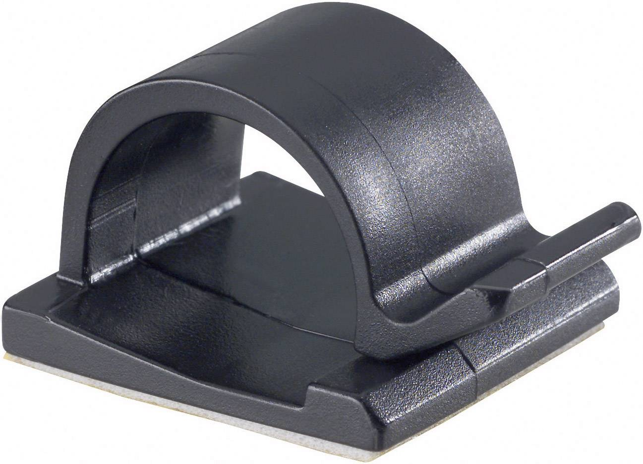 Klip k uchycení kabelů PB Fastener 5439-SW 5439-SW, samolepicí, 15 mm (max), černá, 1 ks