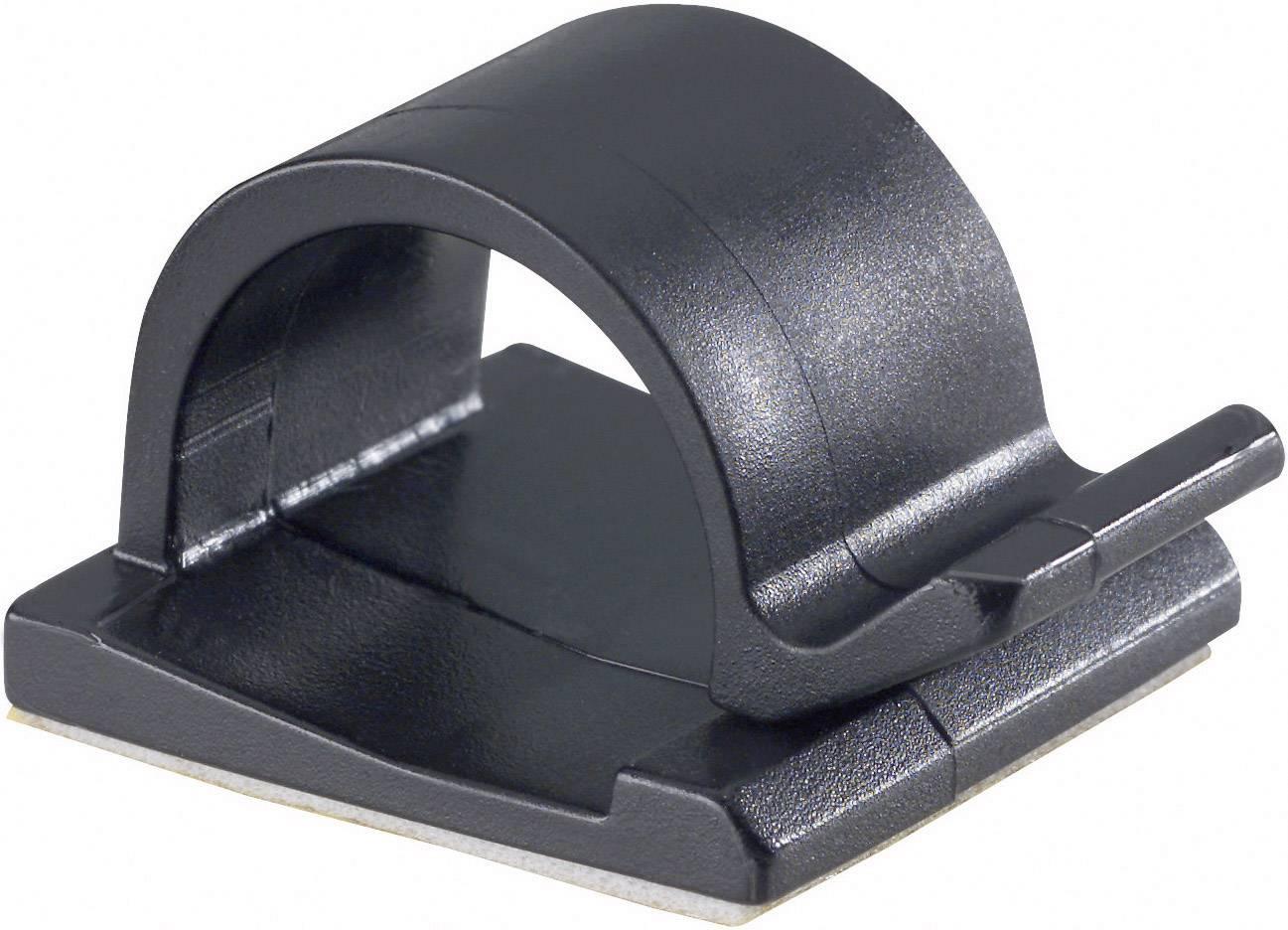Spona na uchytenie káblu/ov PB Fastener 5439-SW 5439-SW, 15 mm (max), čierna, 1 ks