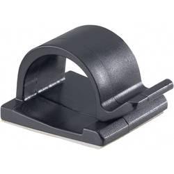 Spona na uchytenie káblu/ov PB Fastener 5439-SW 5439-SW, samolepiaci, 15 mm (max), čierna, 1 ks