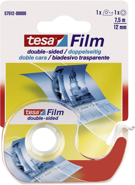 Obojstranná lepiaca páska tesa 57912 57912, (d x š) 7.5 m x 12 mm, priehľadná, 1 balení