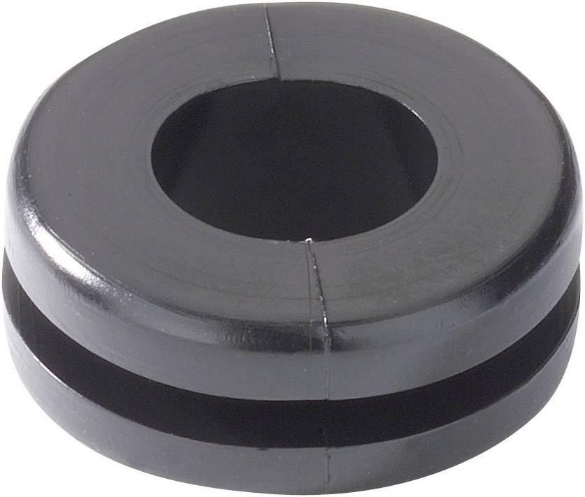 Káblová priechodka HellermannTyton HV1303-PVC-BK-M1, Ø 8 mm, PVC, čierna, 1 ks
