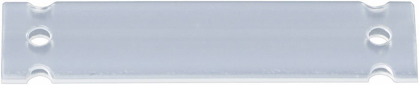 Evidenční štítek HellermannTyton HC12-35-PE-CL, 35 x 13 mm, transparentní