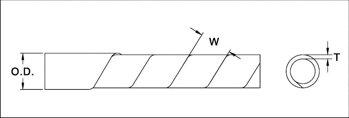 Špirálový káblový oplet KSS KSP19, 15 do 50 mm, metrový tovar, bezfarebná