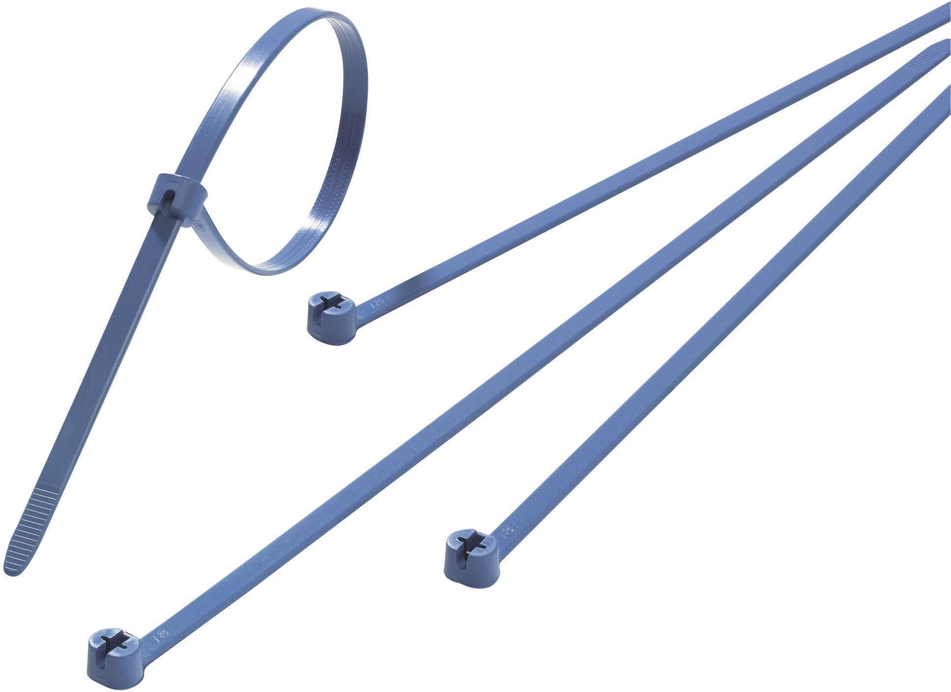 Sťahovacie pásky ABB TY525M-NDT TY525M-NDT, 186 mm, modrá, 100 ks