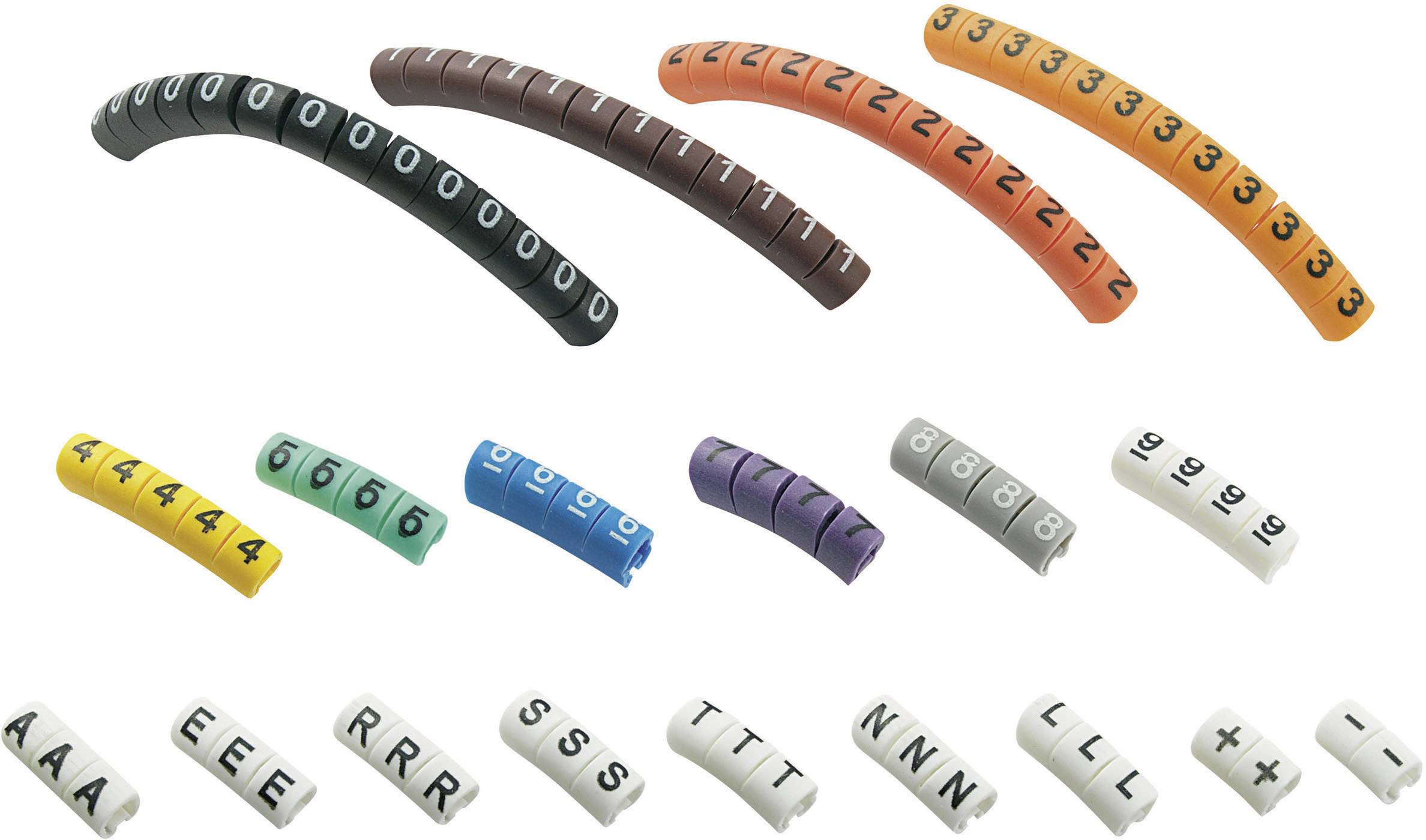 Označovací klip na káble Conrad Components ECMKP-1 545007, farebná, 1 sada