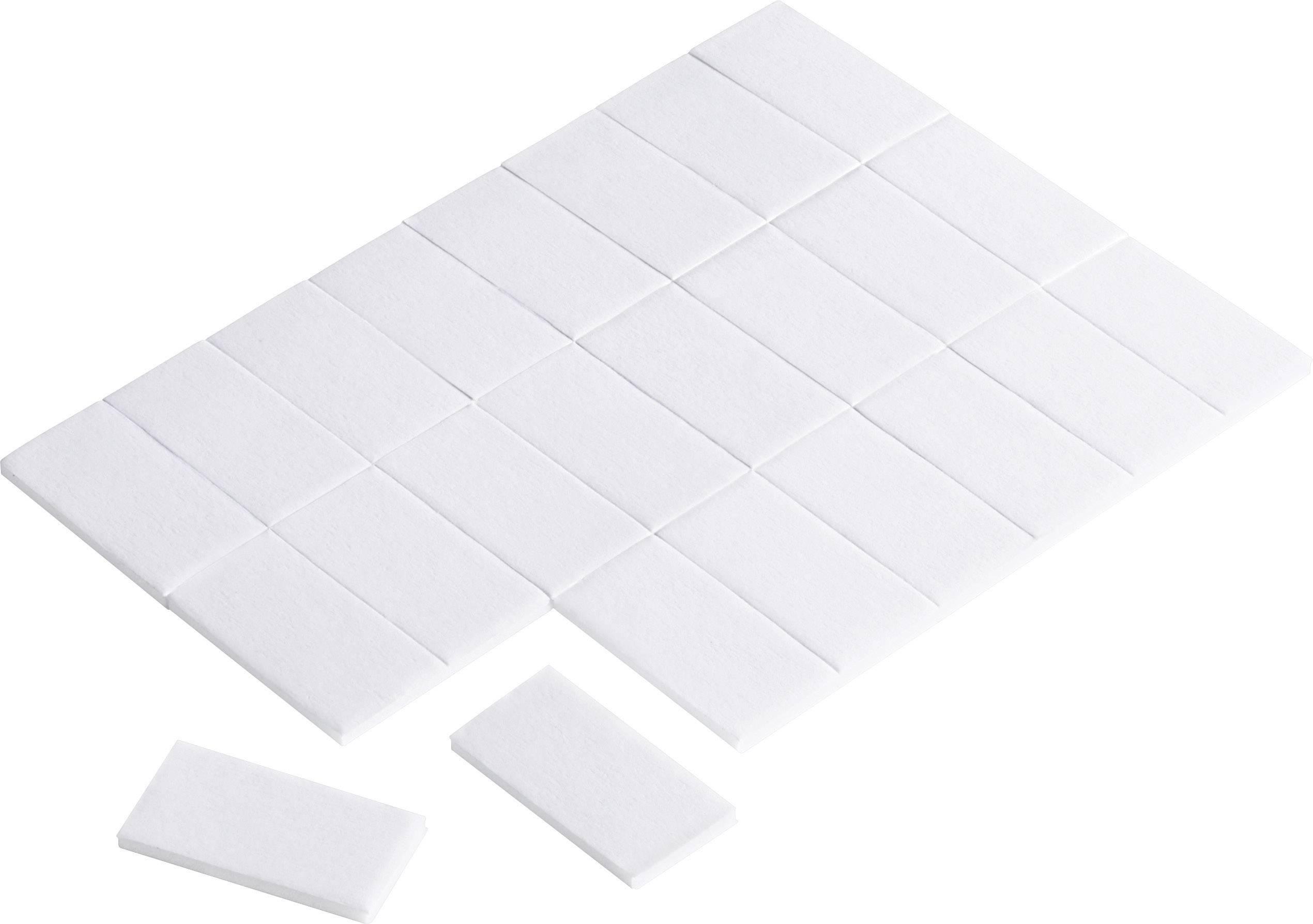 Obojstranná lepiaca páska Conrad Components 545013, (d x š) 25 mm x 13 mm, biela, 24 ks