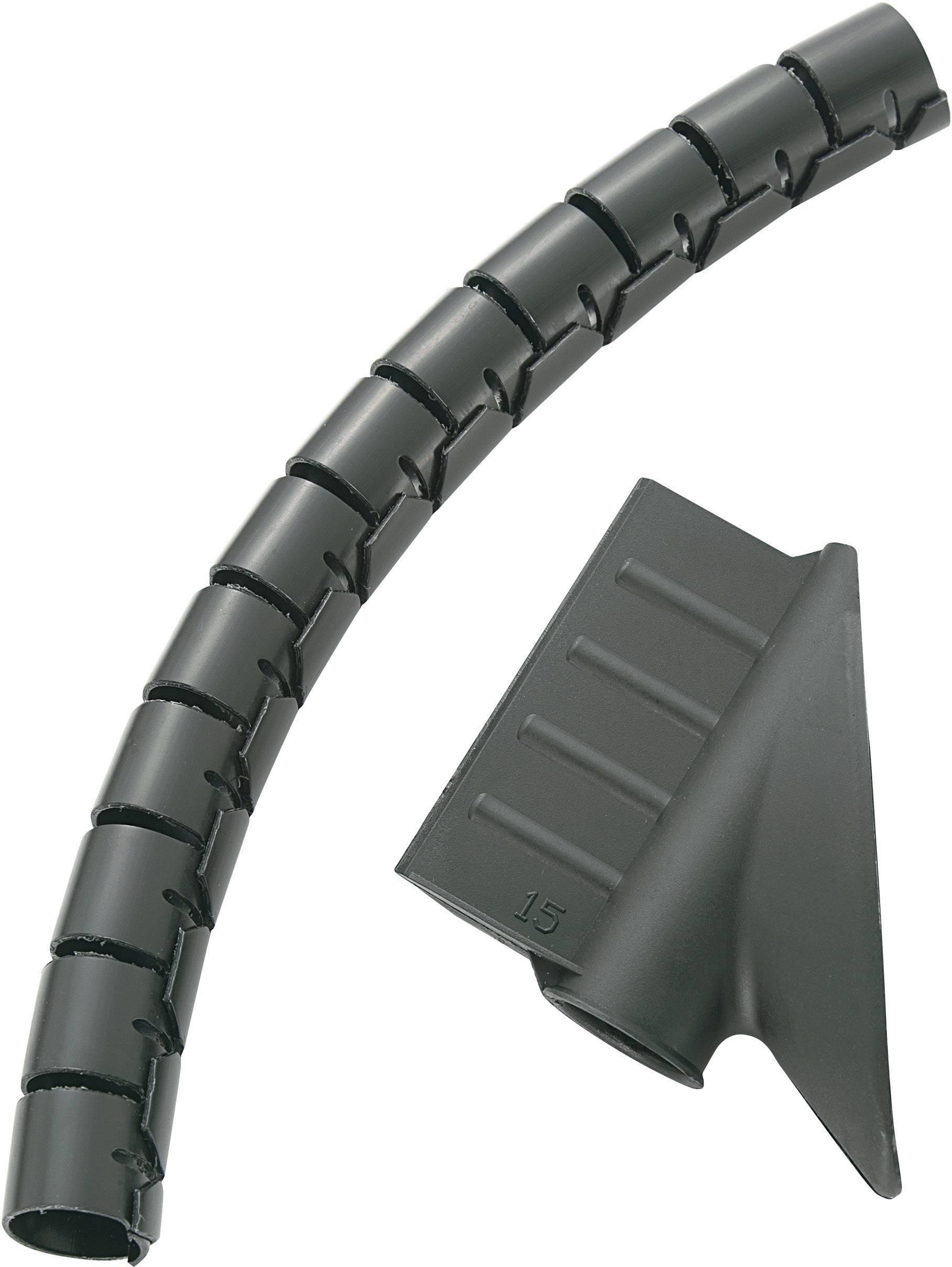 Spirálová trubice na kabely KSS 8530c700, 15 mm, černá