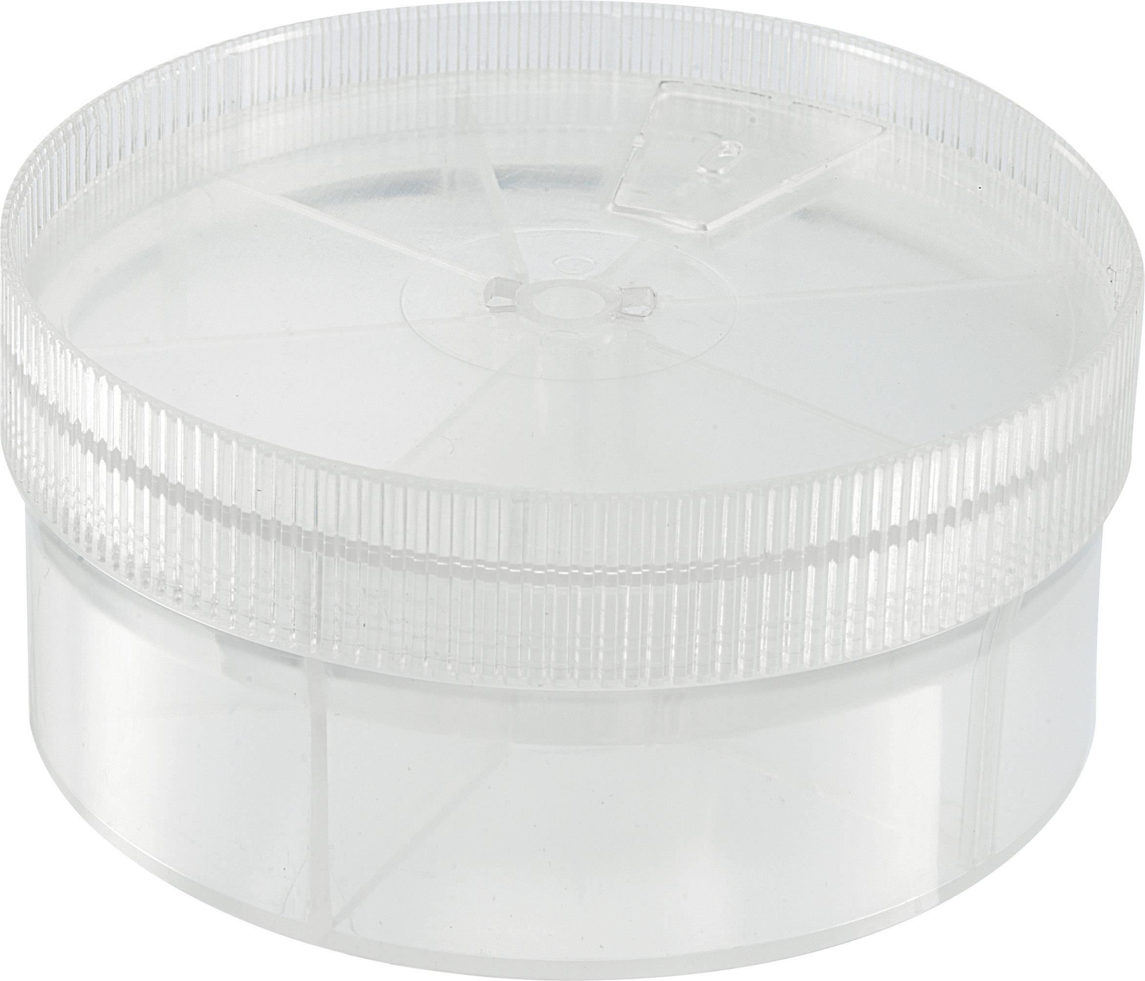 Krabice na součástky TRU COMPONENTS, 1566806, přihrádek: 7, 92 x 43.5 , transparentní