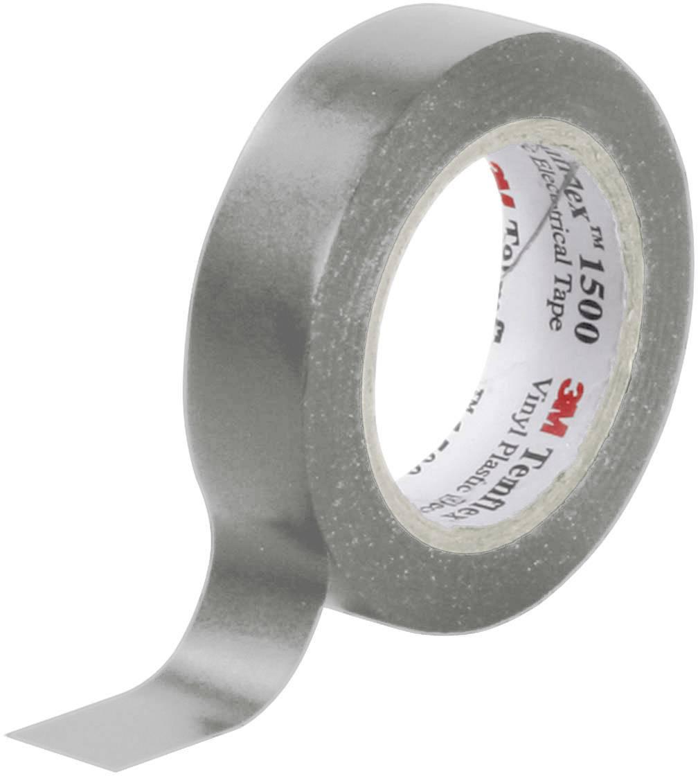 Izolačná páska 3M Temflex™ 1500 XE003411495, (d x š) 10 m x 15 mm, sivá, 1 roliek