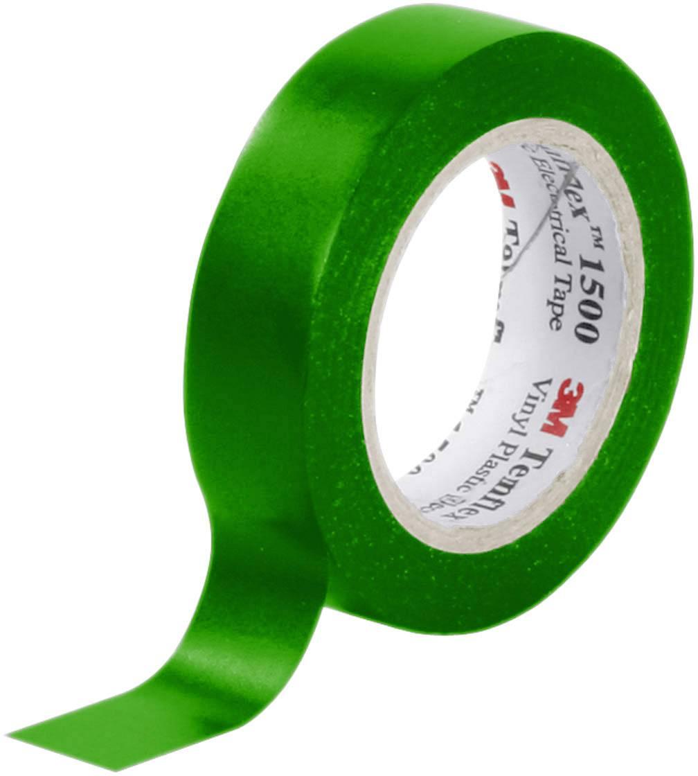 Izolačná páska 3M Temflex™ 1500 7000062281, (d x š) 10 m x 15 mm, zelená, 1 roliek