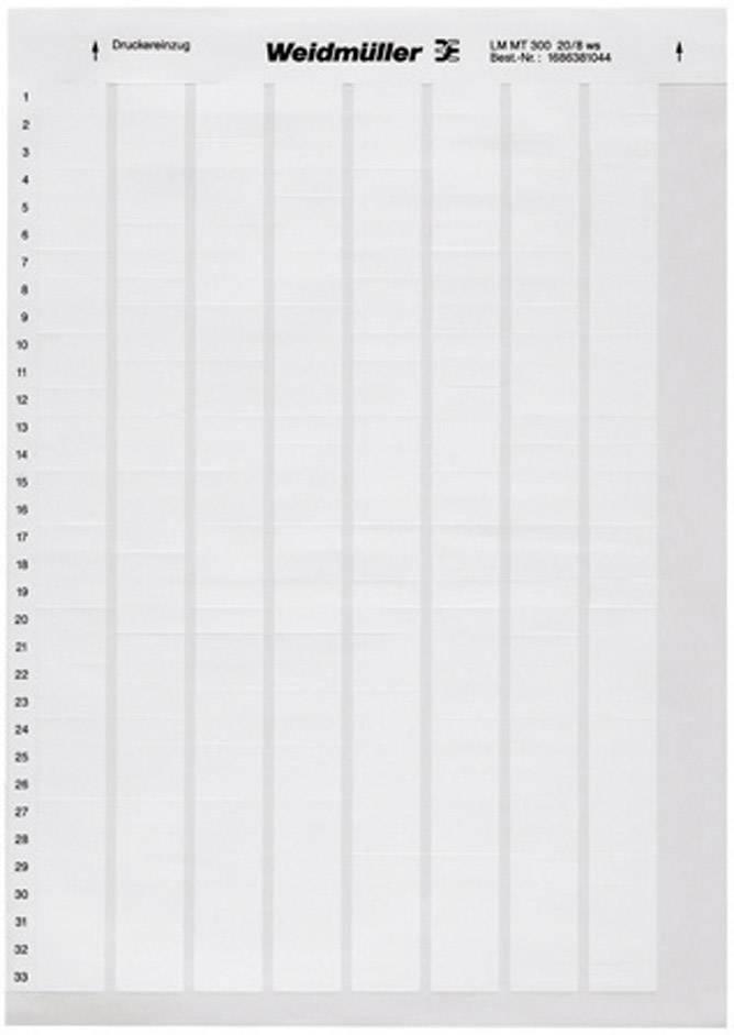 Etikety pro značení kabelů Weidmüller LM WRITE ON 23X55 WS (1695721044), bílá, 1 arch