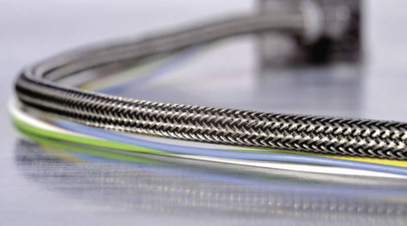 Ochranný oplet HellermannTyton HEGEMIP08-CUSP-C4, 8 do 11.50 mm, -40 do +175 °C, metrový tovar, hliník, čierna