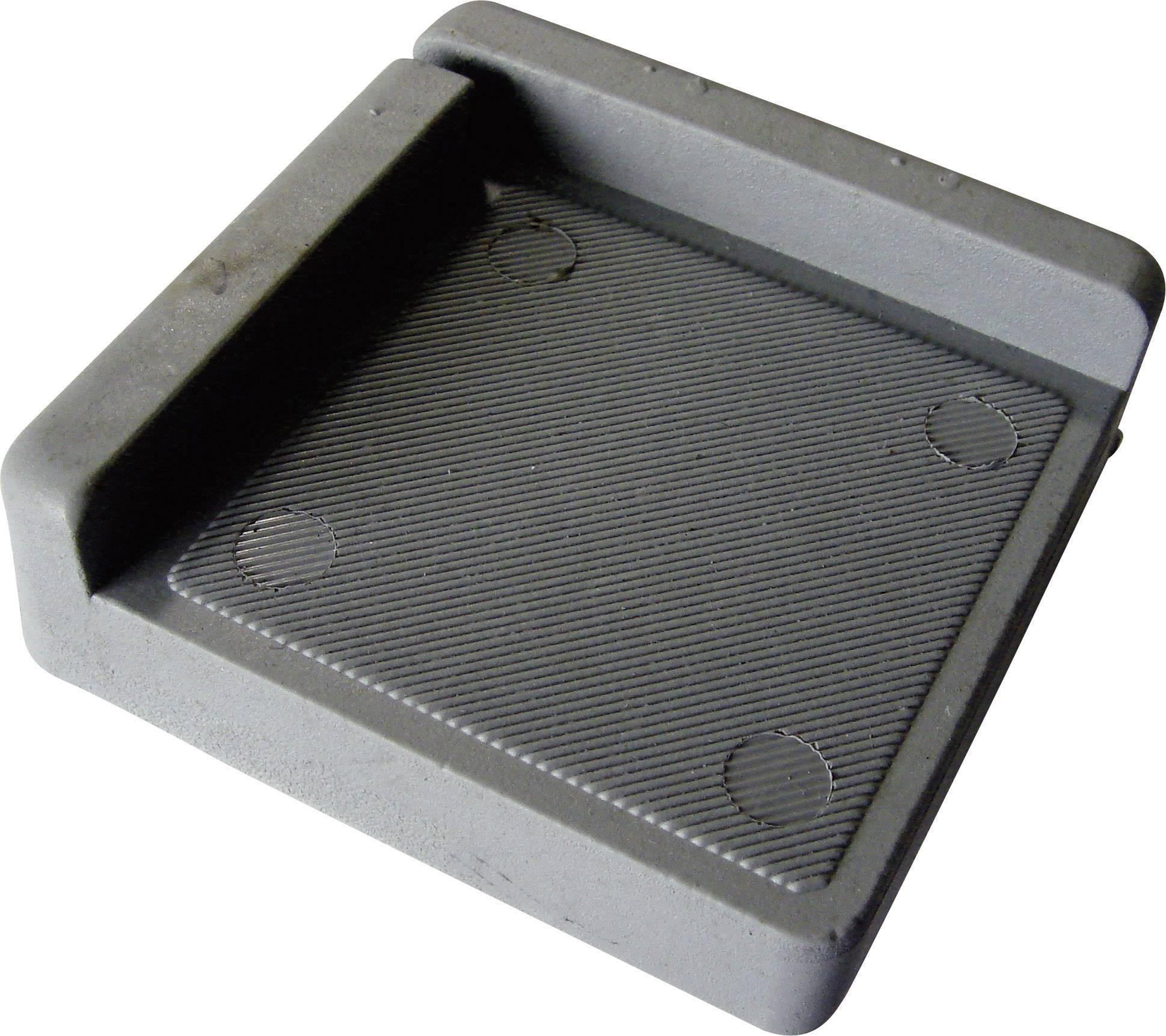Tlmiaci rohová podložka PB Fastener 121845, (d x š x v) 75 x 75 x 25 mm, sivá, 1 ks
