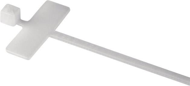 Stahovací pásek se štítkem HellermannTyton IT18R-N66-NA-C0, 100 x 25 x 8 mm, tranparentní