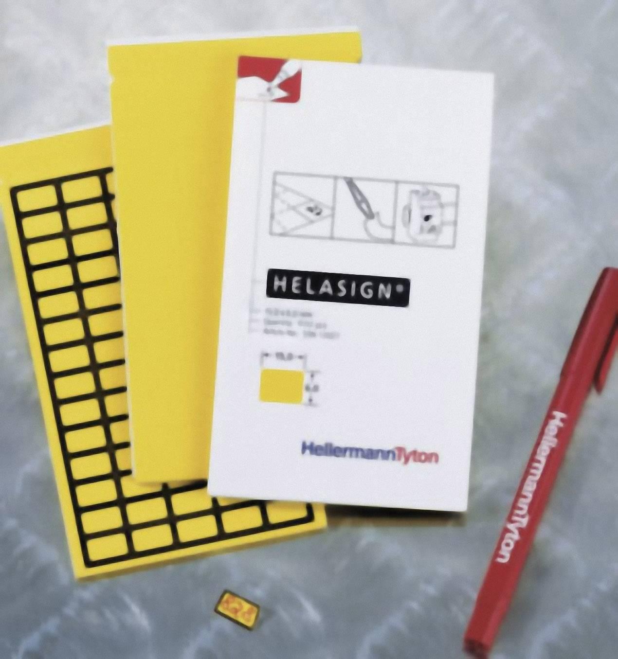 Látkové štítky v bloku HellermannTyton TAG122FB-270-YE (598-92227), 15 x 9 mm, žlutá