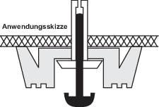 Podstavné nožičky prístrojové (Ø x v) 24 mm x 10.5 mm, čierna, 4 ks