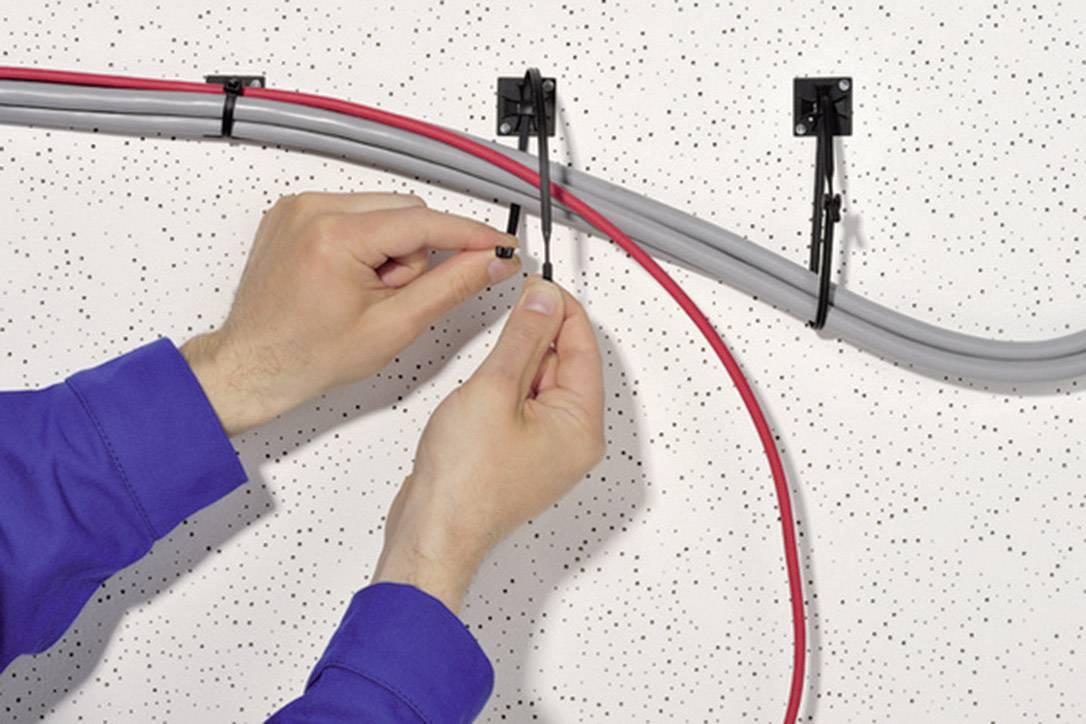 Kabelska vezica Q-Tie (D x Š) 210 mm x 4.7 mm Q50R-PA66-GN-C1 zelena, 100 kosov, HellermannTyton