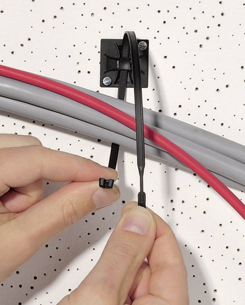 Kabelska vezica Q-Tie (D x Š) 160 mm x 3.6 mm Q30R-PA66-YE-C1 rumena, 100 kosov, HellermannTyton