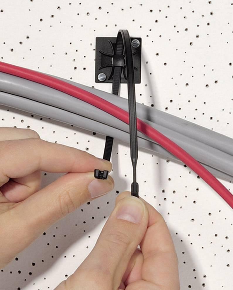 Kabelska vezica Q-Tie (D x Š) 195 mm x 2.6 mm Q18L-PA66-RD-C1 rdeča, 100 kosov, HellermannTyton