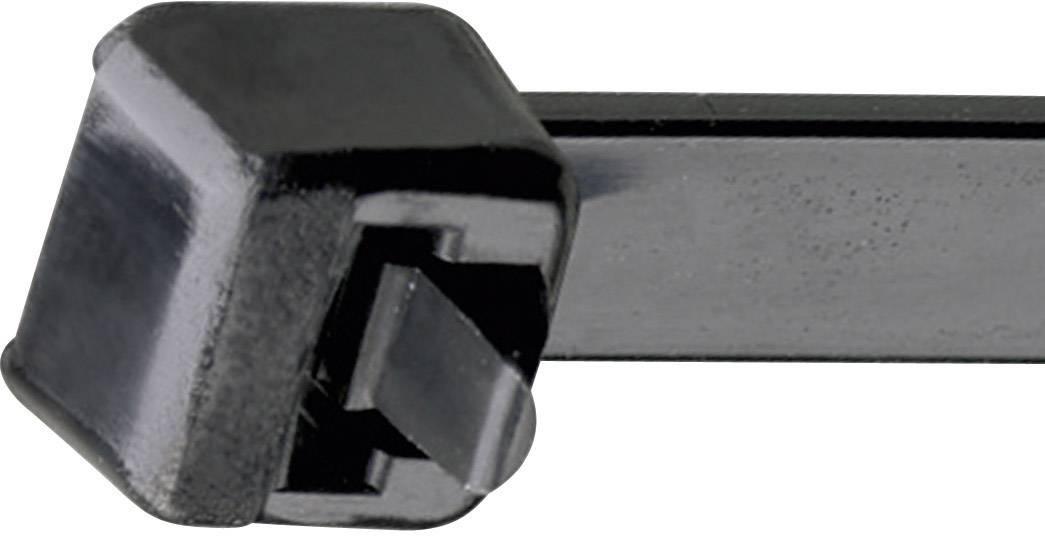 Rozepínací stahovací pásek UV odolný Panduit PRT1 S-C, 122 x 4,8 mm, černá