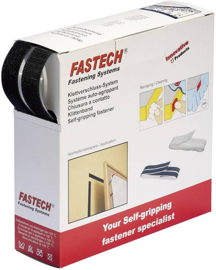 Suchý zip samolepící v boxu Fastech, 20 mm x 10 m, bílá