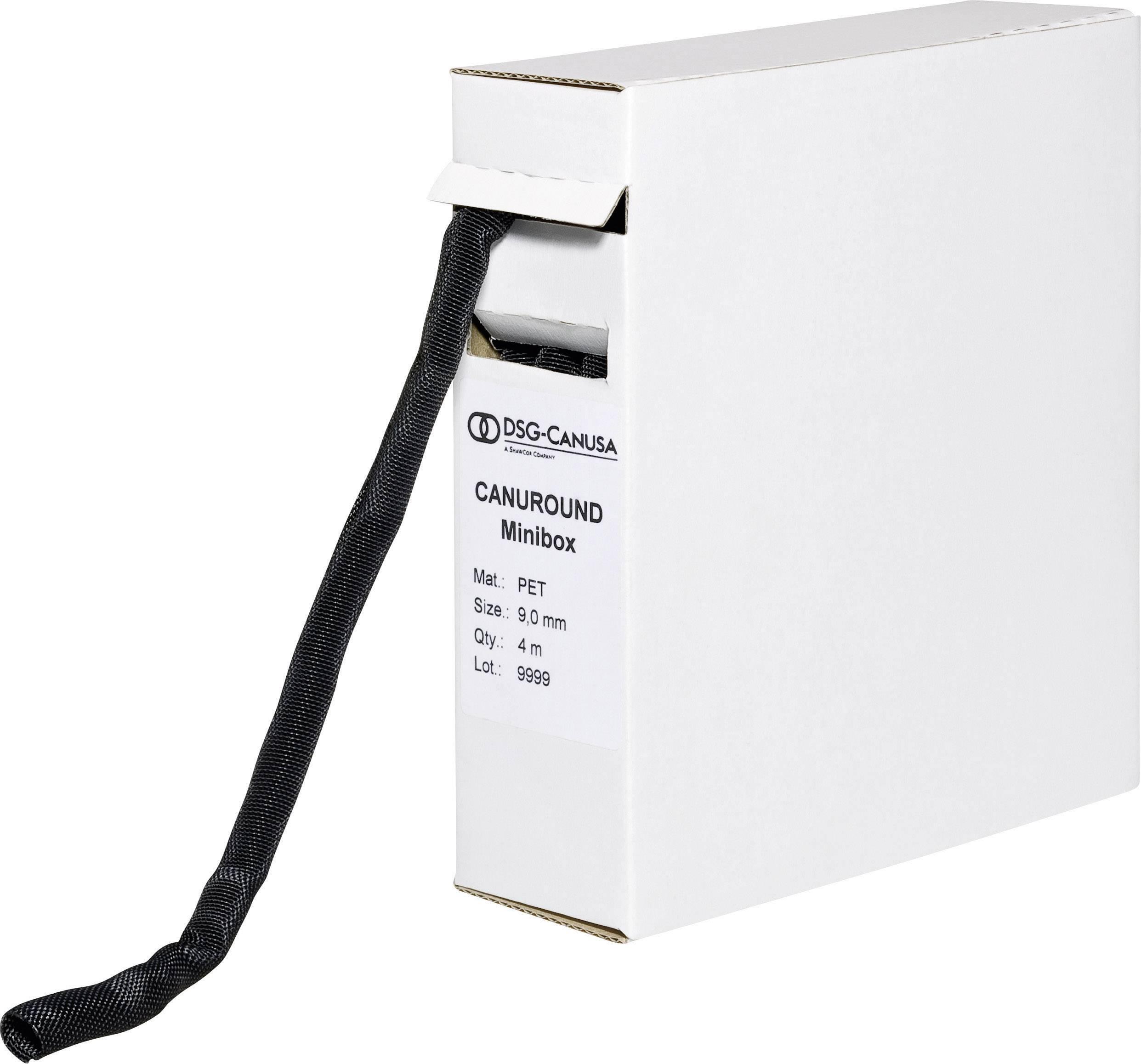 Ochranný oplet DSG Canusa 5 do 5 mm, -55 do +150 °C, 10 m, čierna
