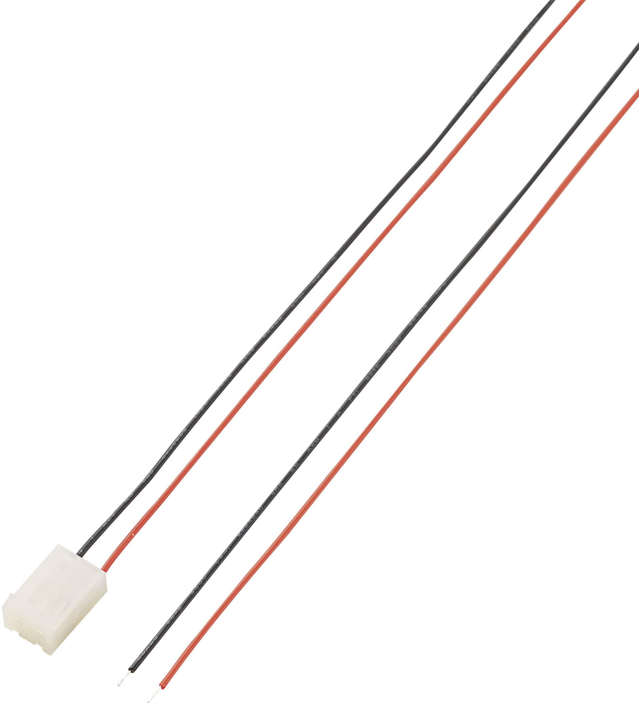 Konektor s vodiči, zásuvka, 2pól., 5,08 mm