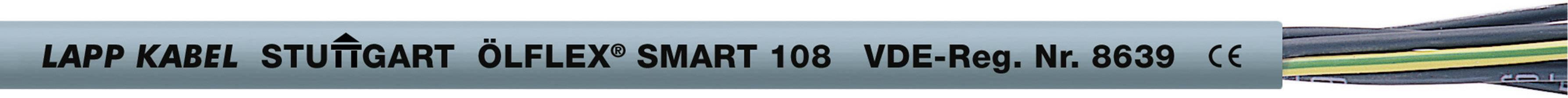 Riadiaci kábel LappKabel ÖLFLEX® SMART 108 17530099, 3 x 0.50 mm², vonkajší Ø 5.10 mm, 500 V, metrový tovar, sivá