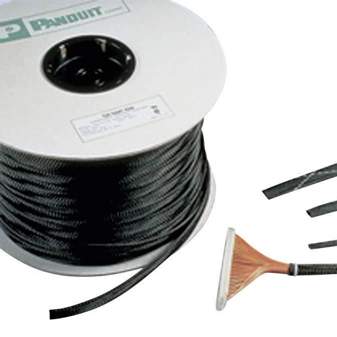 Ochranný oplet Panduit 9.50 do 3.20 mm, -70 do +125 °C, metrový tovar, čierna